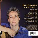 Ed Gerhard Night Birds CD Tray Back